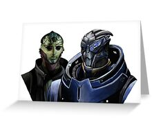Mass Effect - Thane and Garrus Greeting Card