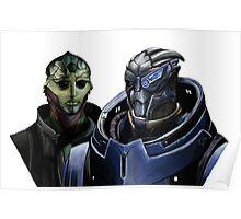 Mass Effect - Thane and Garrus Poster