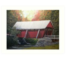 "The "" Campbell Covered Bridge"" Art Print"