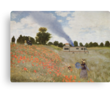 Monet Mashup Breaking Bad T Shirt Canvas Print