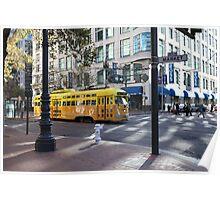 San Francisco Vintage Streetcar on Market Street 5D19798 Poster
