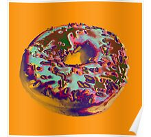 Donut Pop art print Poster