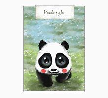 Panda Style Mens V-Neck T-Shirt