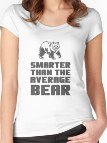 Smarter than your average bear Women's Fitted Scoop T-Shirt
