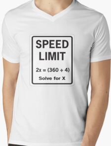 Speed Limit Math Equation Mens V-Neck T-Shirt