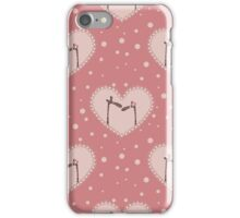 valentine`s day pattern with two  affectionate giraffes iPhone Case/Skin