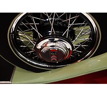1930 Willys-Knight Great Six Plaid-Side Roadster - 5D19806 Photographic Print
