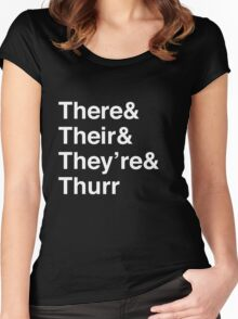 There, Their, They're, and Thurr Women's Fitted Scoop T-Shirt