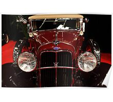 1932 Ford V8 Convertible Victoria - 5D19968 Poster