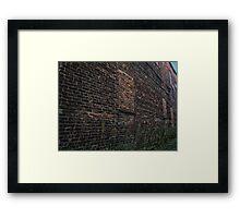 Brick by brick Framed Print