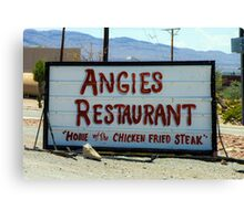 Angie's Restaurant In Fort Hancock...We Should've Stopped Canvas Print