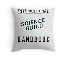 Science Guild Type Poster Throw Pillow
