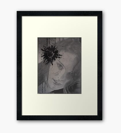Untitled middle canvas of 3 pc. canvas set Framed Print