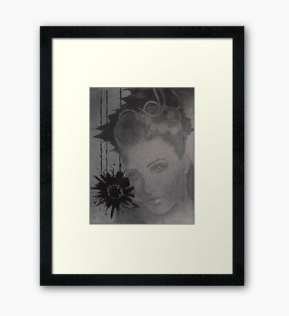 Untitled bottom canvas of 3 pc. canvas set Framed Print