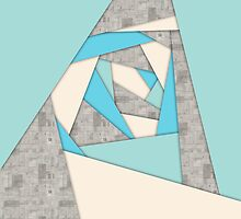 Geometric Shapes Abstract by perkinsdesigns