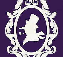Christmas Card - snowman - purple by MrsTreefrog