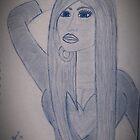Sketch b&w Nicki  by Shanna J. S. Dunlap