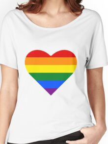Gay Pride Heart Women's Relaxed Fit T-Shirt