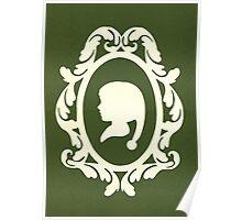 Christmas Card - elf - olive Poster