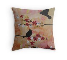 Watercolor and acrylic painting by Australian Artist Catherine Jacobs Throw Pillow