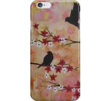 Watercolor and acrylic painting by Australian Artist Catherine Jacobs iPhone Case/Skin