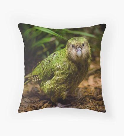 Sirocco the Kakapo Throw Pillow