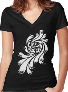 Happy Splash - 1-Bit Oddity - White Version Women's Fitted V-Neck T-Shirt