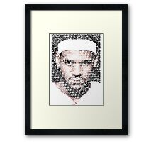 Lebron James Typo - Miami Heat NBA Basketball Framed Print