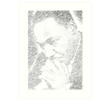 Martin Luther King Jr. - MLK Typographic Art Print