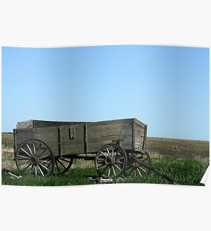 Abandoned Wooden Wagon Poster
