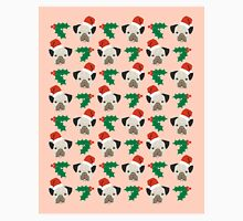 Pug misteltoe and holly cute gift for dog person pug owner Classic T-Shirt