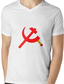 Back in the USSR by Pierre Blanchard Mens V-Neck T-Shirt