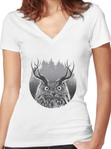 Majesty Women's Fitted V-Neck T-Shirt