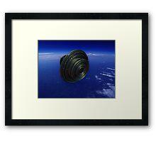 Alien Spacecraft Framed Print