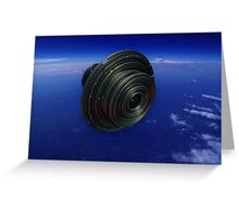 Alien Spacecraft Greeting Card