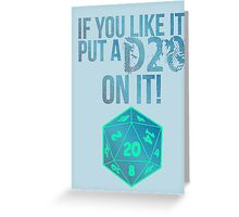 D20 Geeky Awesome Typography Tee & Print Greeting Card