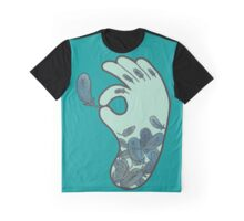 Blue Feather Tattoo Graphic T-Shirt