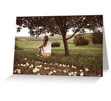 Don't Sit Under the Apple Tree With Anyone Else But Me. Greeting Card