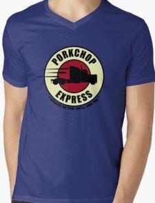 Planet Porkchop Express Mens V-Neck T-Shirt
