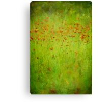 Orange Wildflowers Canvas Print