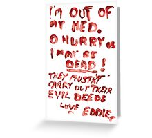 Eddie's Note to Dr. Scott Greeting Card