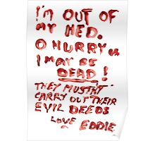 Eddie's Note to Dr. Scott Poster