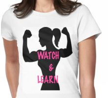 Watch and Learn  Womens Fitted T-Shirt