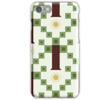 seamless pattern with abstract geometric tree and sun iPhone Case/Skin