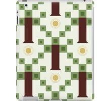 seamless pattern with abstract geometric tree and sun iPad Case/Skin