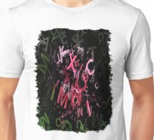Pink Roses in Anzures 4 Letters 1 Unisex T-Shirt