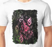 Pink Roses in Anzures 4 Letters 3 Unisex T-Shirt