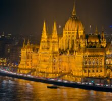 Hungarian Parliament Night Color Sticker