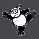 Martial Arts Panda 2 - Grey by Adamzworld