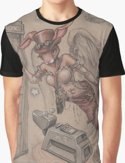 ComicCon Winged Merbunny Graphic T-Shirt
